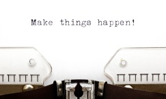 CWK8XP Concept image with Make Things Happen printed on an old typewriter